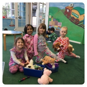 girl having pijama party at doremi academy